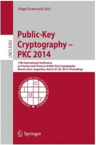 Download ebook Public-Key Cryptography - PKC 2014