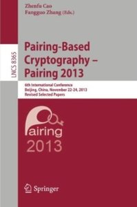 Download ebook Pairing-Based Cryptography - Pairing 2013