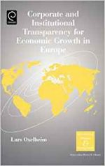 Corporate and Institutional Transparency for Economic Growth in Europe, Volume 19