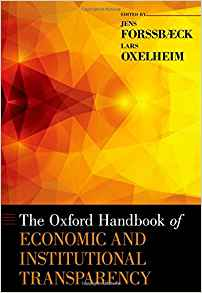 Download ebook The Oxford Handbook of Economic & Institutional Transparency