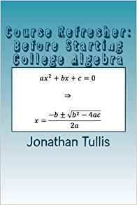Download ebook Course Refresher: College Algebra