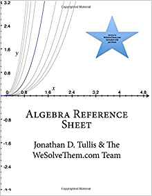 Download ebook Algebra Reference Sheet (Math Reference Sheets)