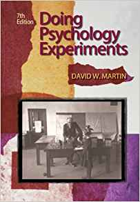 Download ebook Doing Psychology Experiments