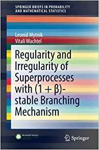 Download ebook Regularity & Irregularity of Superprocesses with (1 + β)-stable Branching Mechanism